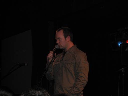 Brendon Small intensely on stage