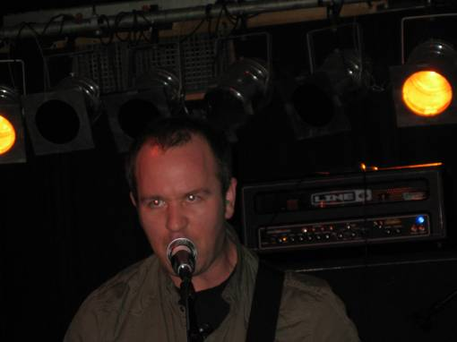 Brendon Small during a Dethklok song